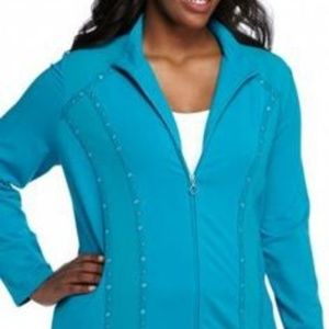 NWT Alfred Dunner peacock trail jacket 20W